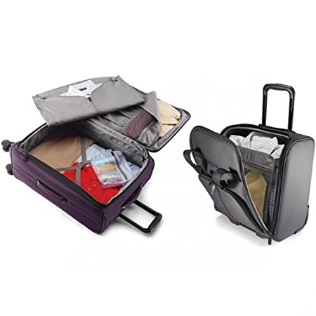 Amazon.com | Samsonite Leverage LTE Wheeled Boarding Bag and 20-inch Spinner Upright Purple | Suitcases
