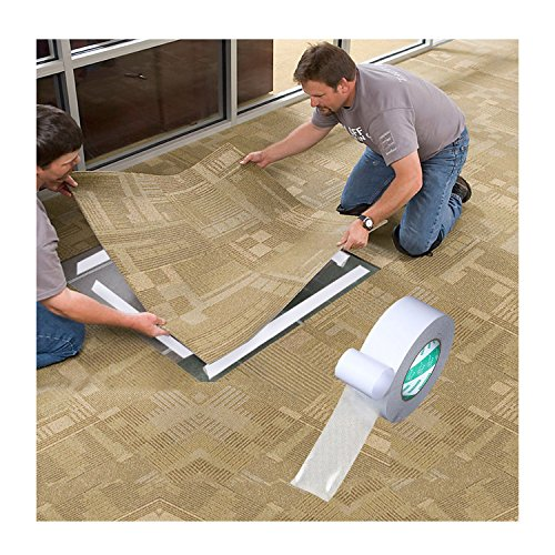 2.5 Inches 60ft Double Sided Carpet Tape, Indoor/Outdoor Non-Slip Adhesive Carpet Tape For Rugs, Mats, Pads, Runners - Outdoor Carpet Tile