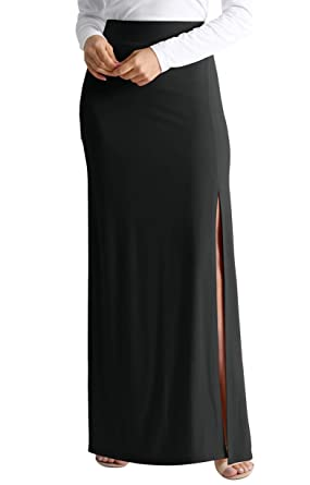 79a523d8d4 Black Maxi Skirt for Women Black Casual Skirts Long Black Skirt reg and  Plus Size Black