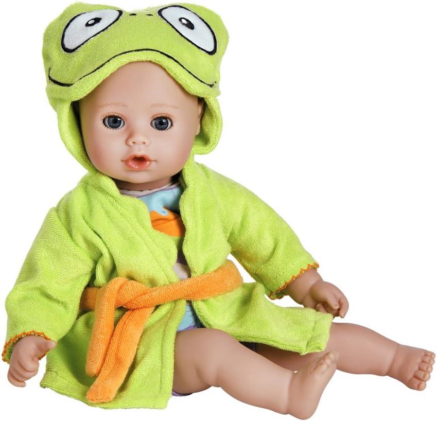 Adora Baby Bath Toy Frog, 13 inch Bath Time Doll with QuickDri Body (20253002)