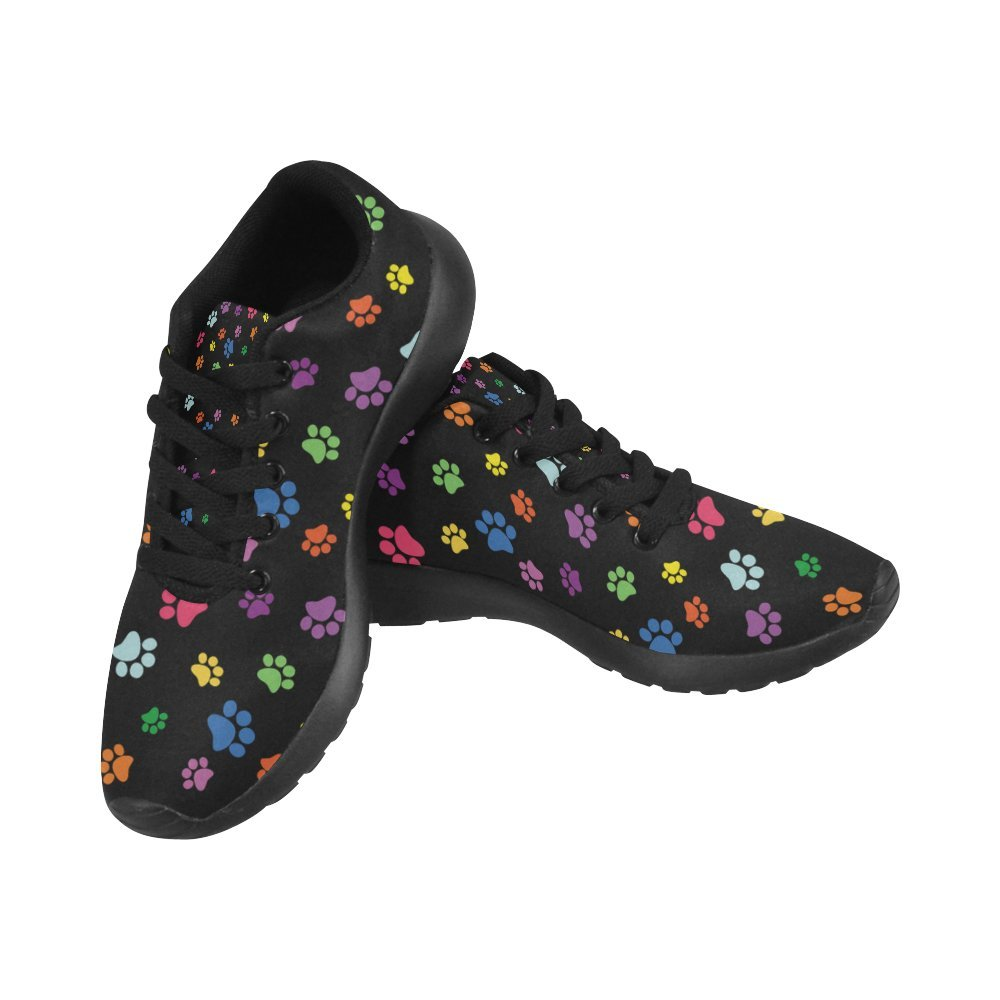 InterestPrint Women's Jogging Running Sneaker Lightweight Go Easy Walking Comfort Sports Athletic Shoes Paw Print 9 B(M) US = EUR39