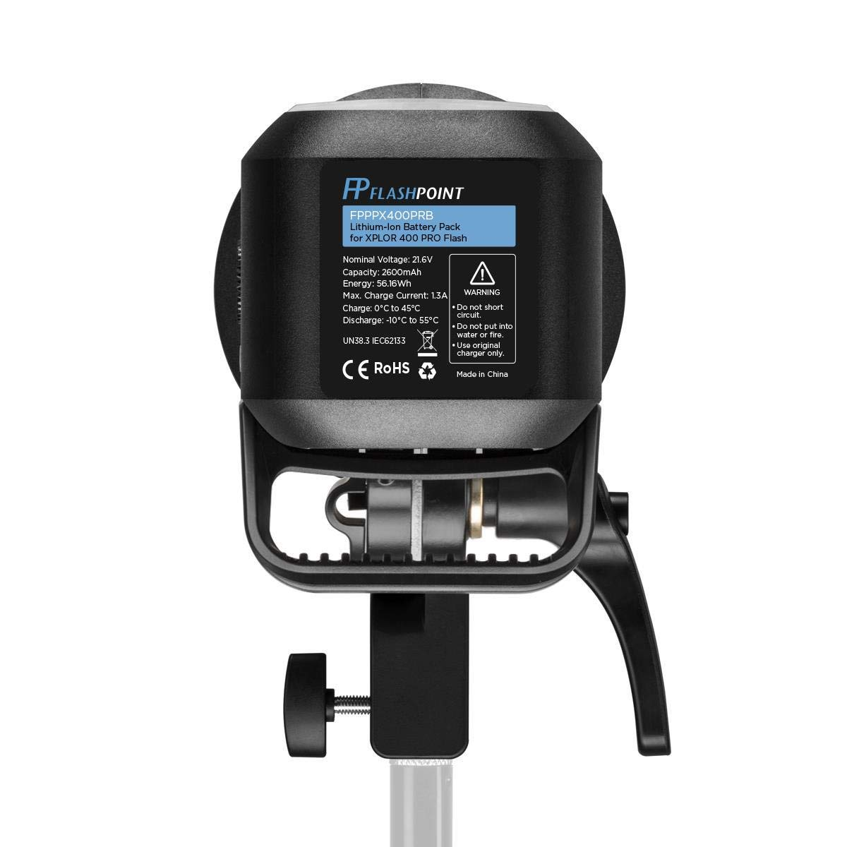 Flashpoint XPLOR 400PRO TTL Battery-Powered Monolight with Built-in R2 2.4GHz Radio Remote System (with Bowens Mount Adapter) - Godox AD400 Pro by Flashpoint (Image #4)