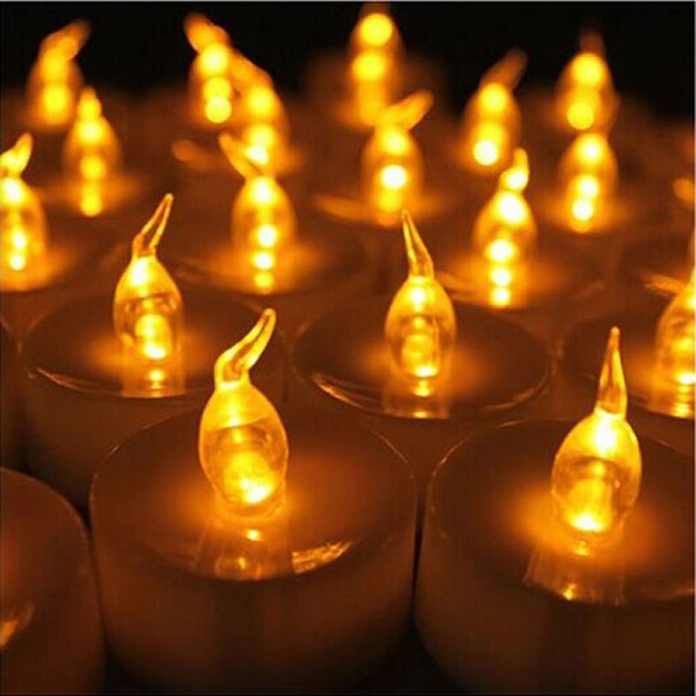 12 Tea Lights Led Flickering with Timer Mini Flameless Candles Tea Lights Battery Operated Flickering Warm White for Wedding Reception Christmas Party Home Decorations Cozeyat 6 hours on, 18 hours off