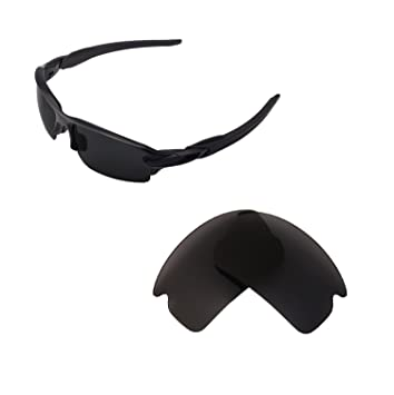 c531faab70b Walleva Replacement Lenses For Oakley Flak 2.0 Sunglasses - Multiple  options available (Black)