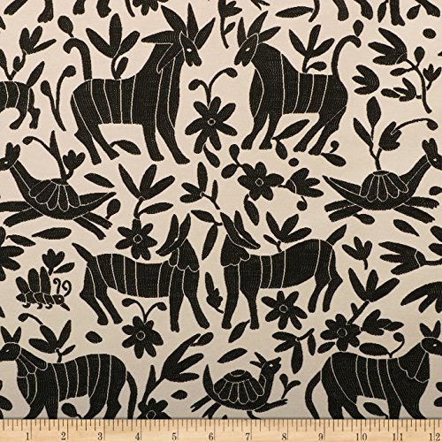 - ARTISTRY Fiesta Otomi Jacquard Fabric by The Yard, Onyx