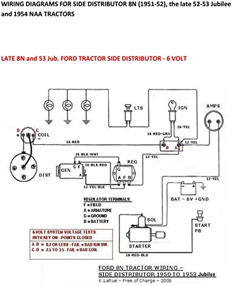 6 Volt Wiring Diagram For 8n Tractor | Wiring Diagram  N Tractor Wiring on 8n voltage regulator wiring, 12 volt delco alt wiring, 8n generator wiring, home wiring,