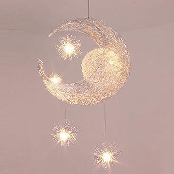 Lustre lune étoiles pour chambre d\'enfant Lustre suspendus Plafonnier à  domicile avec lumière douce ,40*100cm