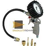 Reifenfüller geeicht inkl. 4 Adaptern Dunlopventil, Fahrradventil, Ballhohlnadel, Schlauchboote I Geeichter Reifenprüfer