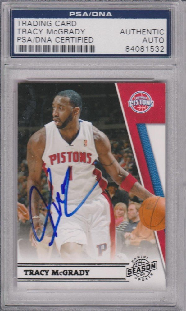best cheap d8af2 4e639 Tracy Mcgrady Signed Autographed Card PSA/DNA Certifiedated ...
