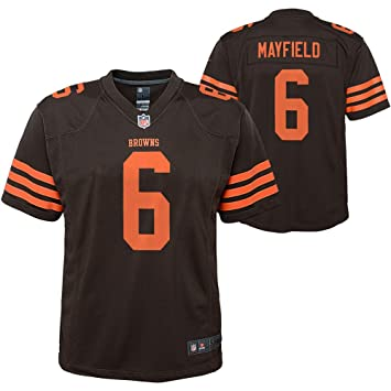 new style 0e155 e2f05 Outerstuff Youth Kids 6 Baker Mayfield Cleveland Browns Football Jersey