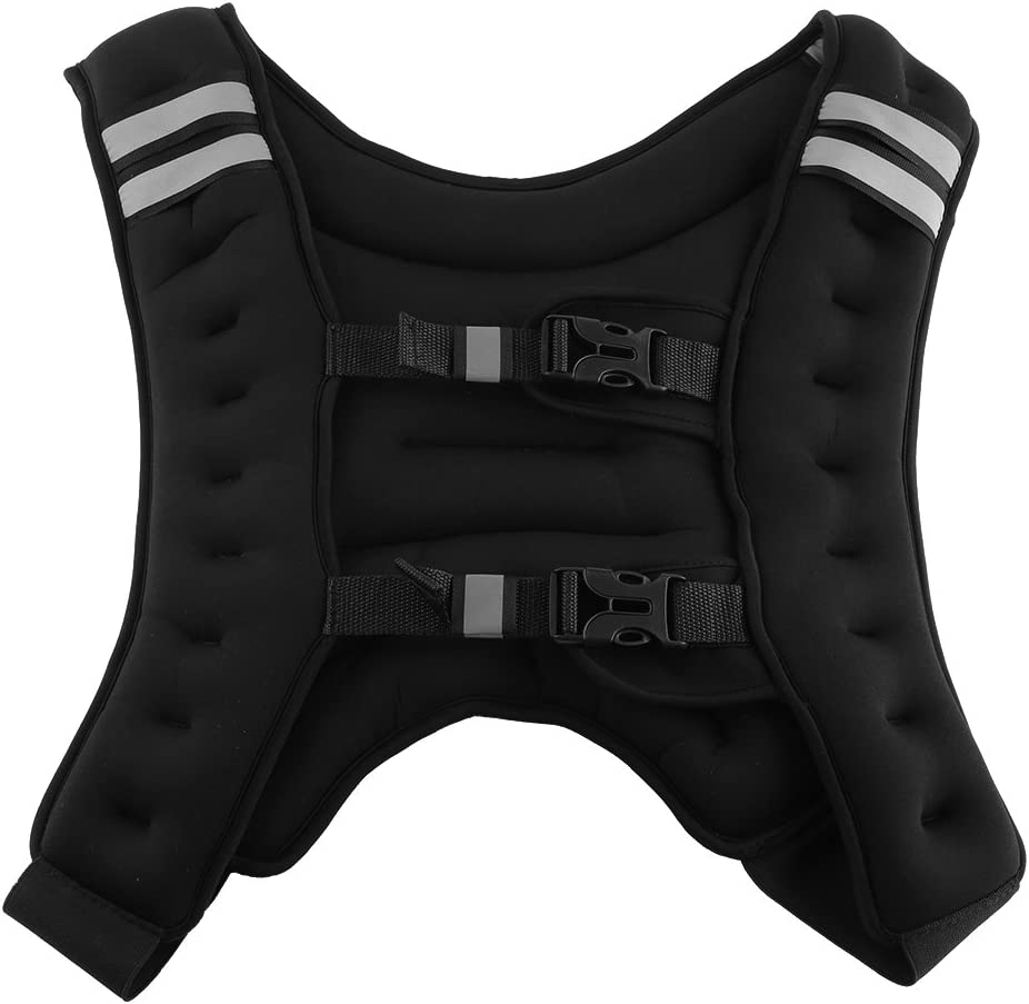 GOTOTOP Weighted Vest, 22 Pounds Fixed Weight Iron Exercise Weighted Vest with Adjustable Buckle for Workout Fitness Resistance Training