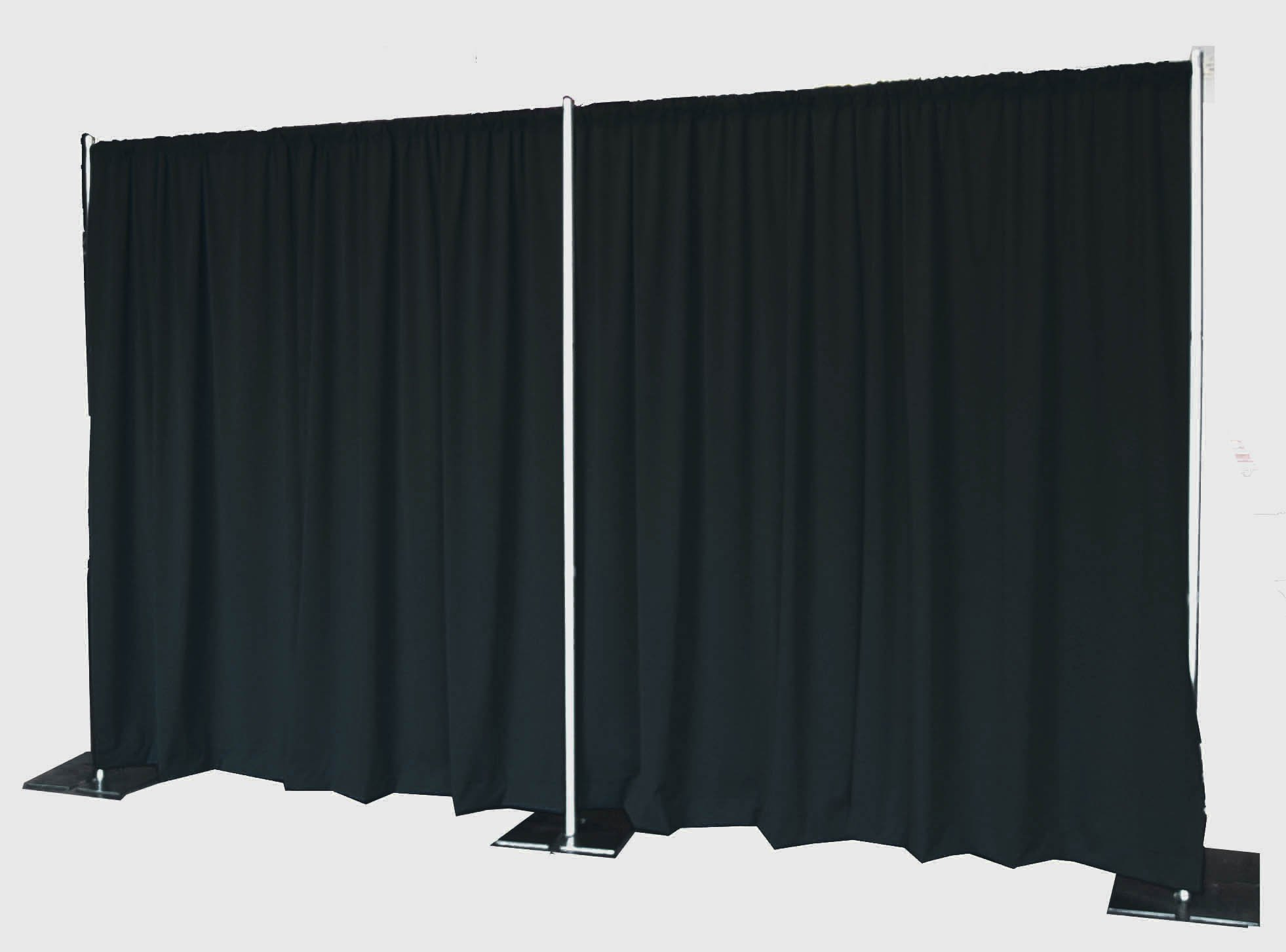Pipe and Drape Backdrop 8ft x 20ft (Black) by OnlineEEI
