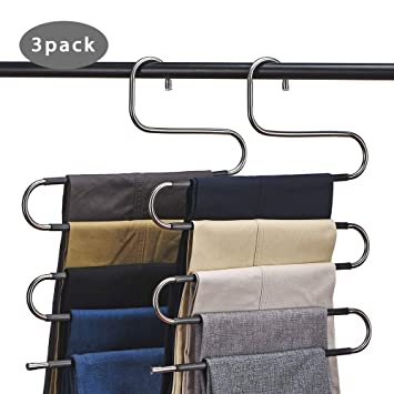 Amazon.com: CEISPOB Perchas para pantalones que ahorran ...