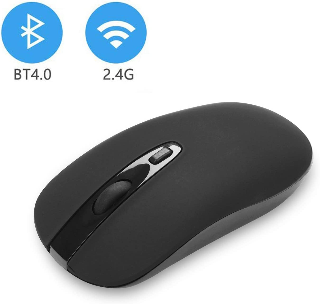 cimetech Wireless Bluetooth Mouse with Nano Receiver, Less Noise and Mute Silent Click, Portable Mobile Optical Mice for Notebook, PC, Laptop, Computer, MacBook