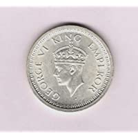 British India 1944 * KG VI Silver One Rupee Coin * Rare Collectible
