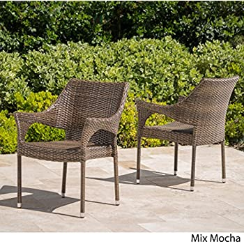 Amazon Com Del Mar Patio Furniture Outdoor Mix Mocha