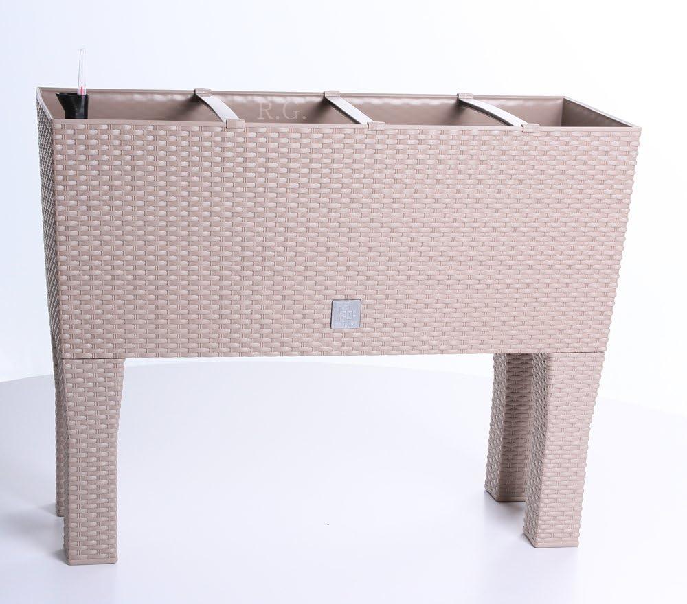 DRTC800H-440U Prosperplast Blumentopf Rato Case High Rattanoptik, inkl. Bew/ässerungssystem; 80x33x62cm, 72 l, braun