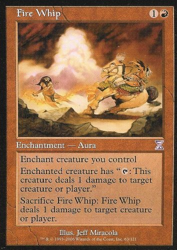 - Magic the Gathering: Fire Whip - Time Spiral Time Shifted