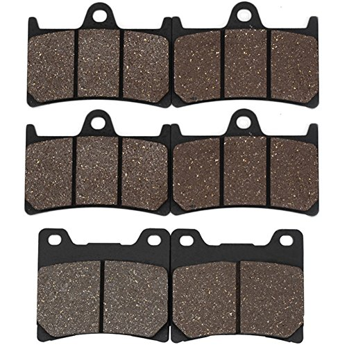 Rear Yzf600 Brake (Cyleto Front and Rear Brake Pads for YAMAHA YZF600R YZF600 R 1997 1998 1999 2000 2001 2002 2003 2004 2005 2006 2007)
