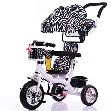 BBZZZ Cochecito de bebé Niños de Interior y al Aire Libre Triciclo pequeño Rueda de plástico ...