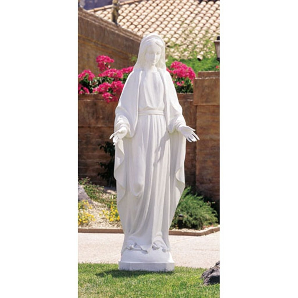 Our Lady of Grace the Blessed Virgin Mary White Resin Statue, 60 Inch by Avalon Gallery