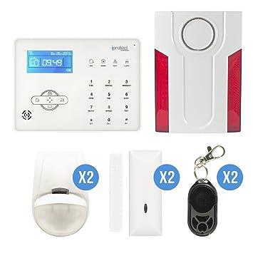 iProtect Evolution - ipe-06gsm-noc1 - Kit Alarma táctil gsm 06 con Flash Sirena Exterior: Amazon.es: Bricolaje y herramientas
