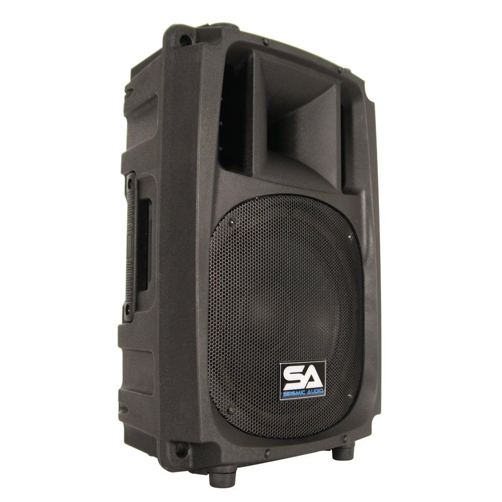 Seismic Audio L_Wave-10 Powered 2-Way 10-Inch PA/DJ Molded Speaker Cabinet Active 200-Watt Loudspeaker Cabinet Seismic Audio Speakers Inc.