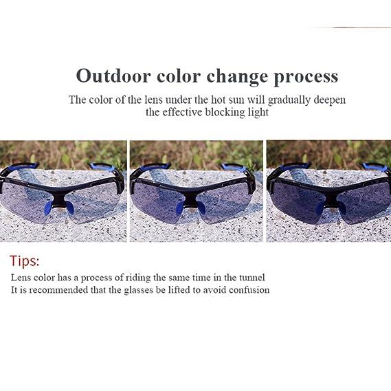 3041d3b4d3 Amazon.com   Eleoption Sports Sunglasses Photochromic Cycling Glasses  Discoloration Glasses MTB Road Bike Sport Sunglasses Anti-UV for Men Women  Cycling ...