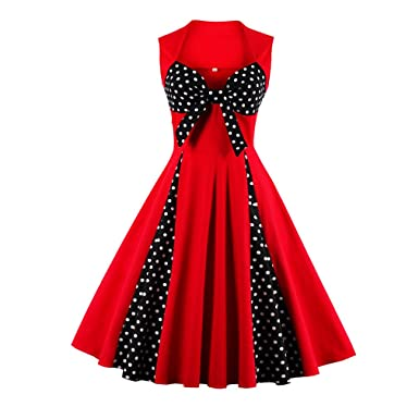 Dress New Promotion 1950s Little Polk Dots Dress Women Pin Up Plus Size Summer Aubrey Style