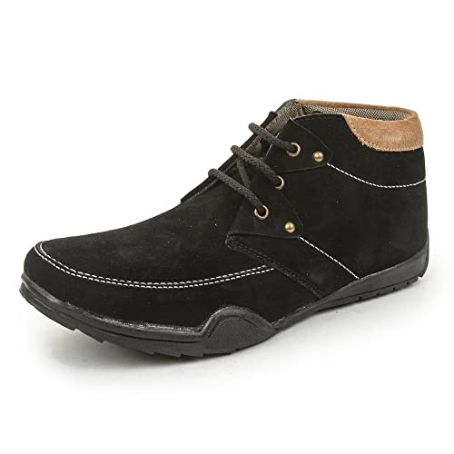 b7adbfaa93f8 Bacca Bucci Men Black Suede Leather Casual Shoes  Buy Online at Low Prices  in India - Amazon.in