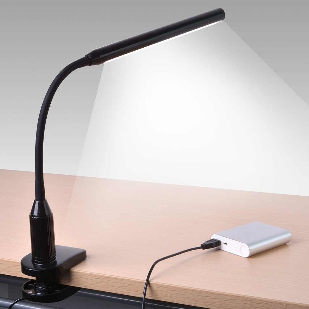 Clip On Led Reading Light Lamp Flexible Arm Dimmable Eye