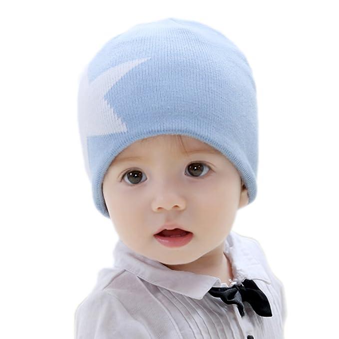Amazon Bikman Lovely Star Pattern Winter Knit Hat Baby Boys