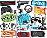Birthday Galore Video Gamer Game On Photo Booth Props Kit - 20 Pack Party Camera Props Fully Assembled