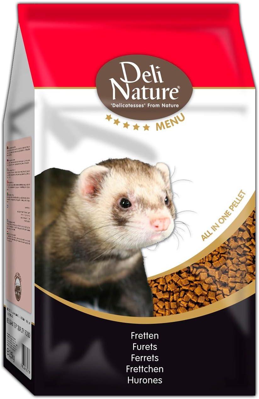 DELINATURE Mixtura para Hurones, Menú 5*, Delinature, 2,5 kg, Pequeños Mamíferos
