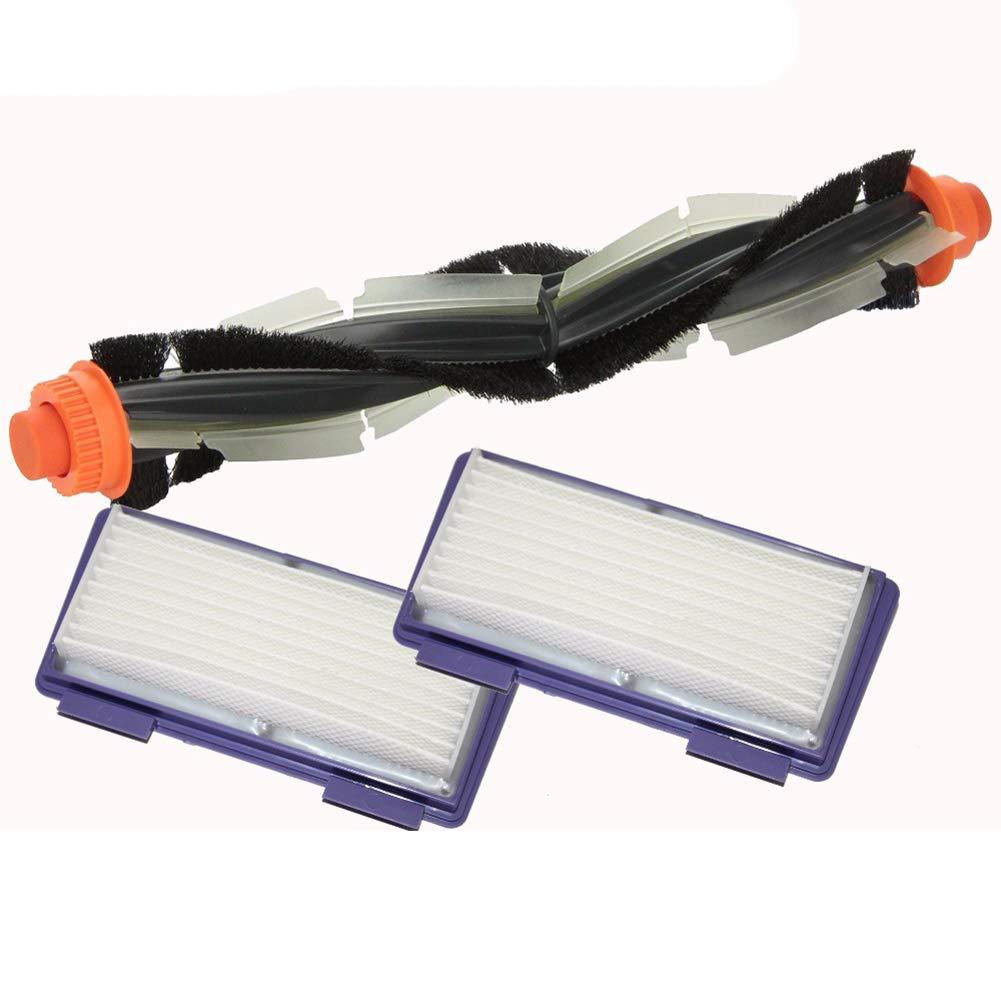 Toogoo 1pcs Replacement Combo Roller Brush+HEPA Filterx2 for Neato XV-21 XV Signature Pro XV-11 XV-12 XV-15 Curved Combo Roller Brushes