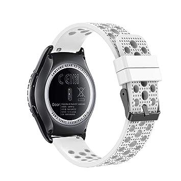 Fit-power - Correa de Repuesto para Reloj Inteligente Samsung Gear Sport/ Samsung Gear