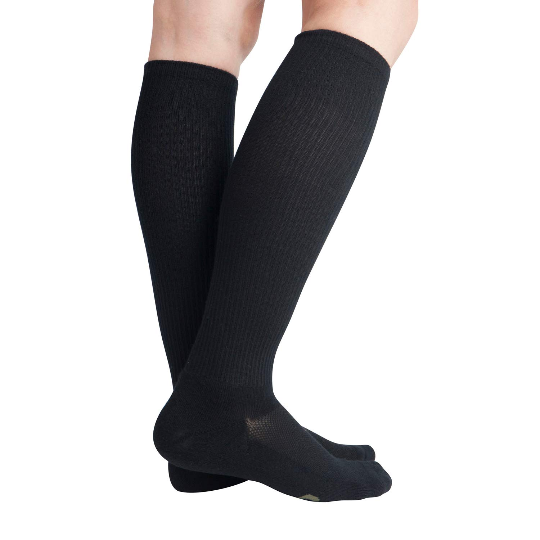 Calze a compressione per lumidita di bamb/ù 8-15 mmHg per uomo e donna Calze al ginocchio 6 paia Black13-15