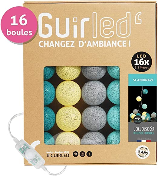 Guirnalda luminosa de bolas de algodón LED USB – Cargador doble ...