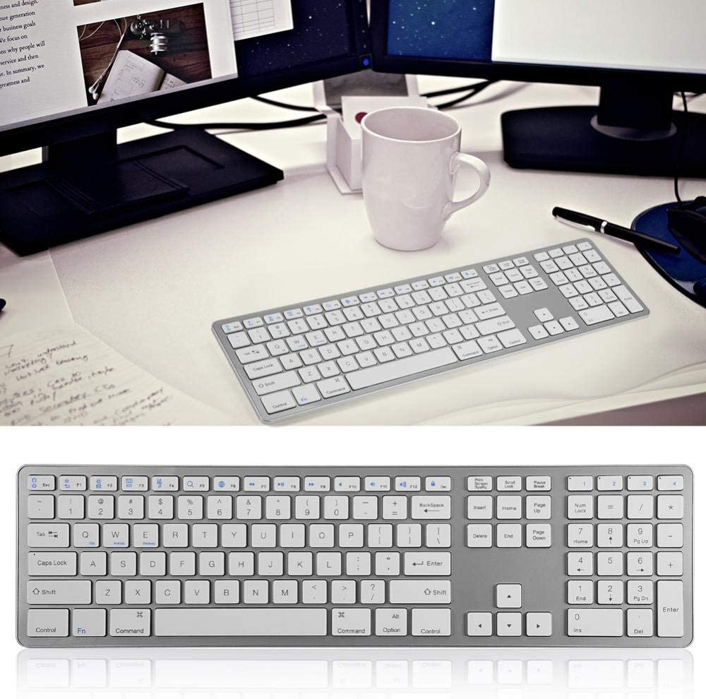 Universal Multi-Pairing Wireless Blue-Tooth Keyboard with 104 Keys for PC//Laptop//Tablet Hongzer Keyboard