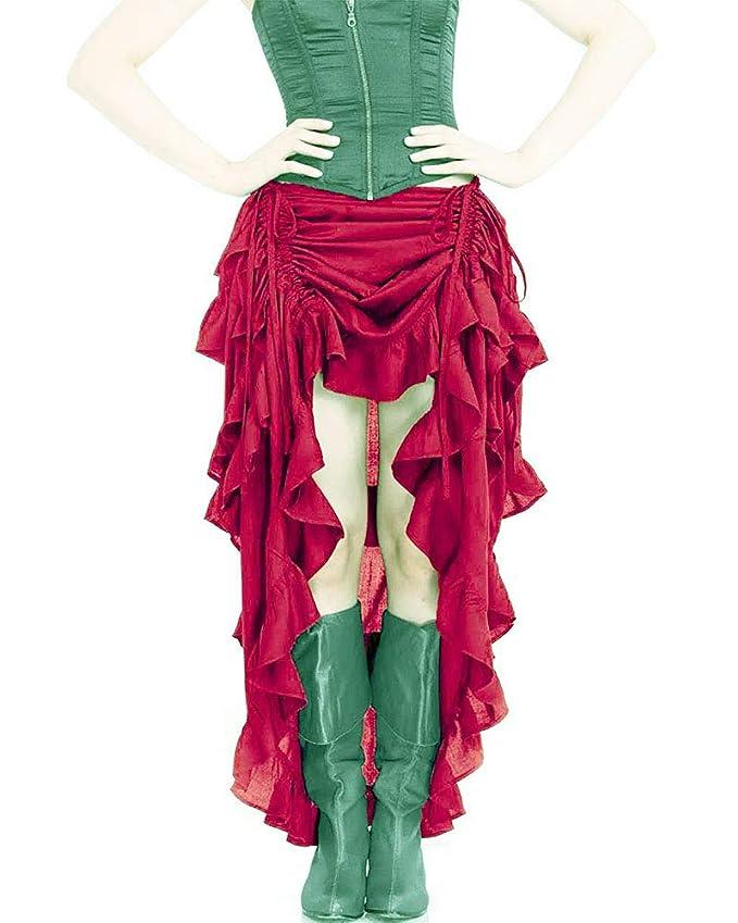 hellomiko Ropa Victoriana gótica de Steampunk para Mujer Falda ...