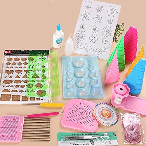 Katoot@ 19Pcs DIY Paper Quilling Tools Set Template Tweezer Pins Slotted Tool Kit Handmade Paper Card Crafts Decorating Tools Artwork