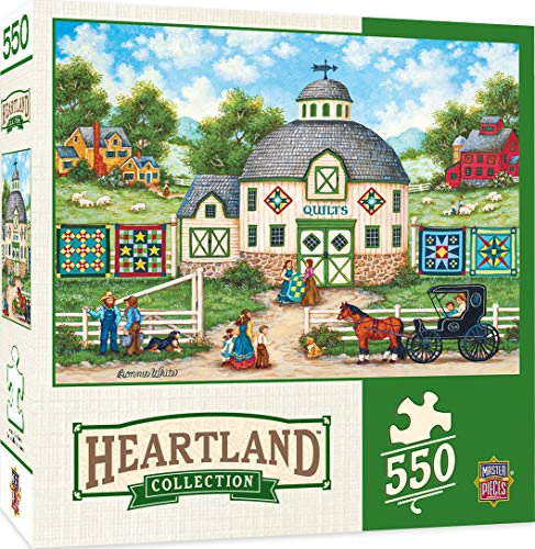 MasterPieces Heartland Collection Jigsaw Puzzle, The Quilt Barn, Featuring Art by Bonnie White, 550 Pieces