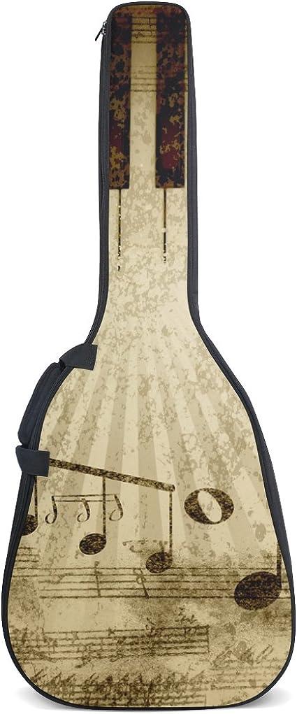 COOSUN - Bolsa para guitarra acústica con diseño de notas ...