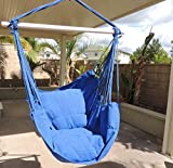 Topcare Hammock Chair Hanging Rope Chair Porch Swing Outdoor Chairs Lounge Camp Seat At Patio Lawn Garden Backyard Army Green