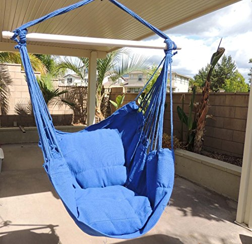 Topcare Hammock Chair Hanging Rope Chair Porch Swing Outdoor Chairs Lounge  Camp Seat At Patio Lawn