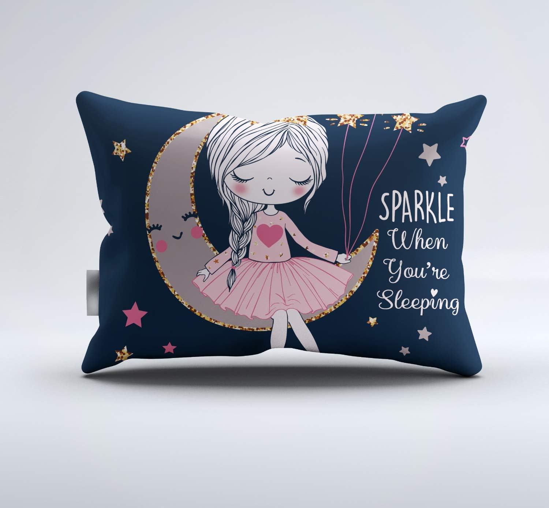 REALIN Pink Princess Bedding Cute Girl Jumping Ballet Duvet Cover Set Fashion Music Rock Girl Bedroom,2-4PCS Quilt Covers//Sheets//Pillow Shams,Single//Double//King
