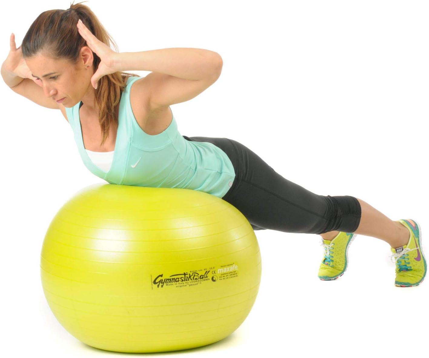 Pezzi Ball MAXAFE Gymnastik Ballpumpe und Sitzball inkl