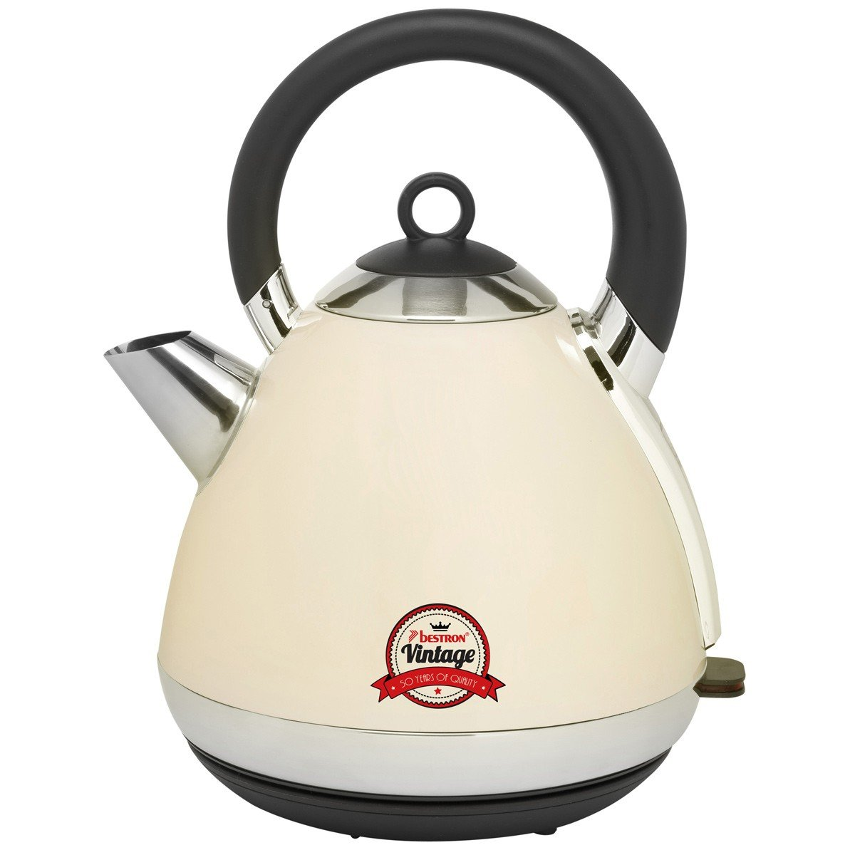 Amazon.de: Bestron AWK100RE Retro Design Wasserkocher Vintage Creme ...