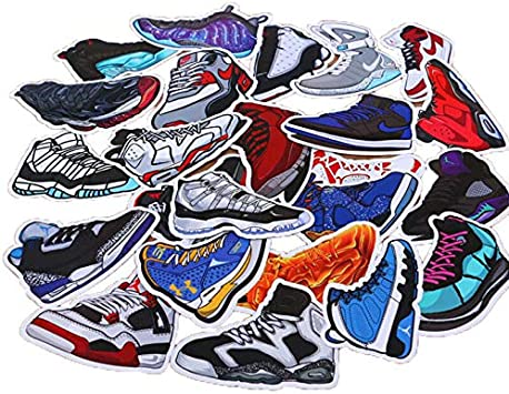 DADATU Pegatinas 100pcs/pack Dibujos Animados Mixtos Sneaker ...