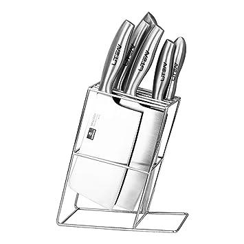 Soporte para cuchillos de acero inoxidable, soporte simple ...